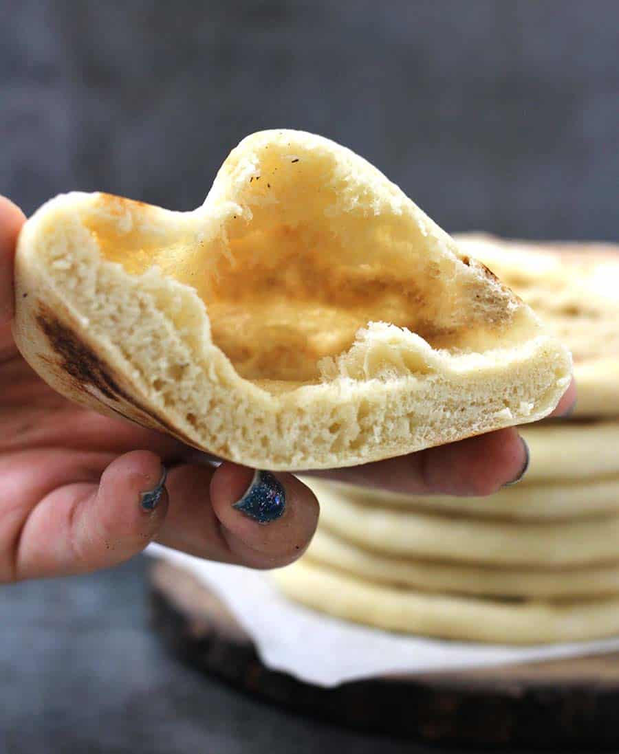 Pita Bread Cook With Kushi