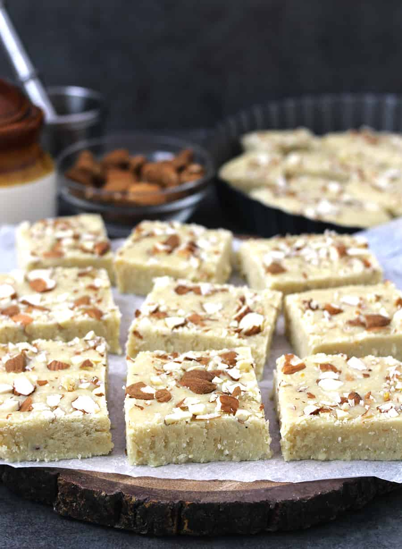 Milk cake, no bake eggless desserts, diwali, holi, navratri sweets recipes