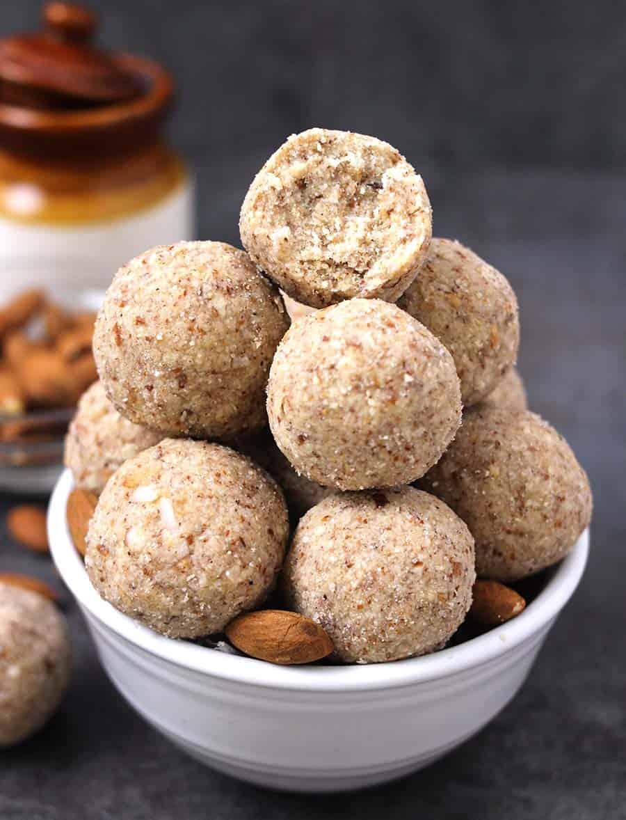 Ladoo, Laddu , laddoo (Mithai) - Popular Indian sweet recipes for Diwali, Navratri, Holi,Karva Chauth, Janmashtami, Ganesh Chaturthi, paleo recipes