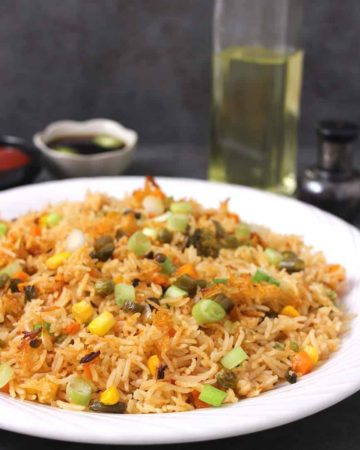 Best , easy and simple vegetarian, veg and vegan, gluten free frid rice for meal, lunch, dinner, superbowl food, gamenight food, football food, lunchbox food,