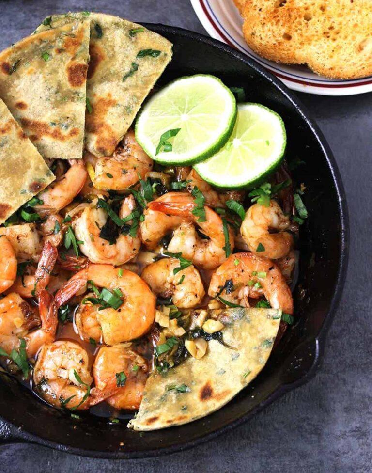 Garlic Butter Shrimp, side dishes for thanksgiving dinner, appetizers for football party food, healthy dinner sides, shrimp recipes, lemon garlic butter sauce