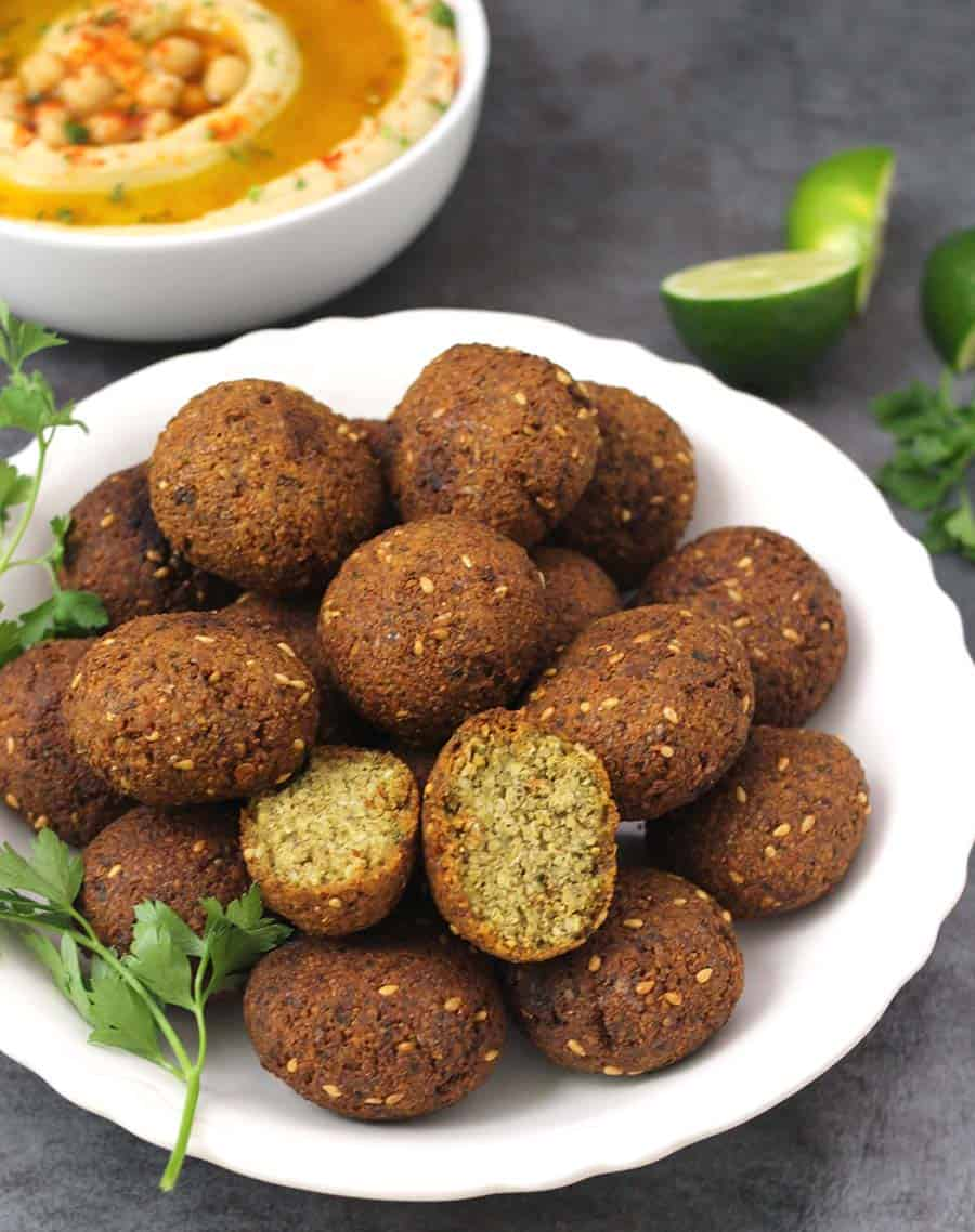 Falafel, vegan glutenfree falafel patty, pita sandwich, pita burger, falafel sandwich, hummus spread, easy middle easter food recipes
