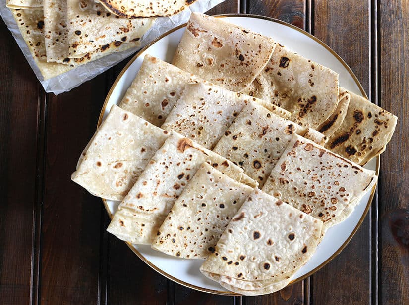 naan and curry, roti and curry, Indian dinner lunch recipes