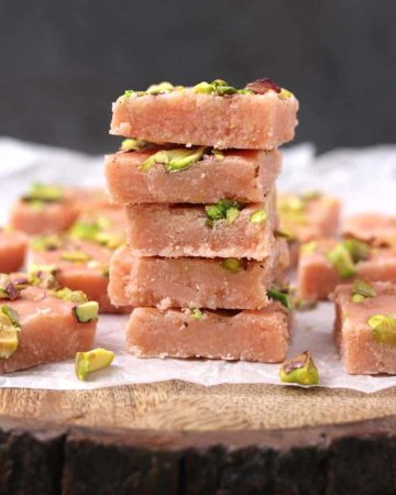 Rose Barfi, Rose Milk Powder Burfi, besan barfi, milk powder based sweets and desserts, recipes for Diwali, christmas, thanksgiving and holiday , easy , famous and healthy, popular Indian mithai