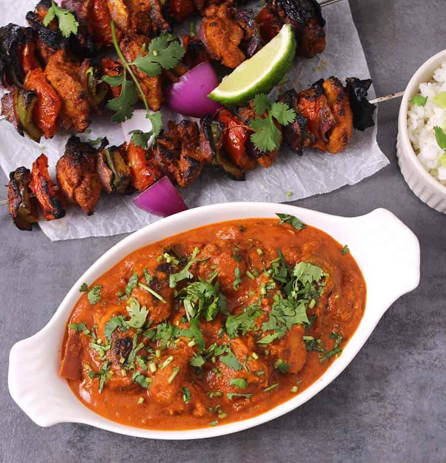 Chicken tikka, Butter chicken, Indian chicken recipes, tandoori chicken, popular, best chicken recipes, yougurt marinated chicken, chicken marinade