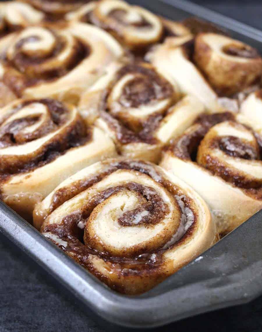 air fryer cinnamon rolls, christmas breakfast casserole, cinnamon rolls soft, rich and gooey