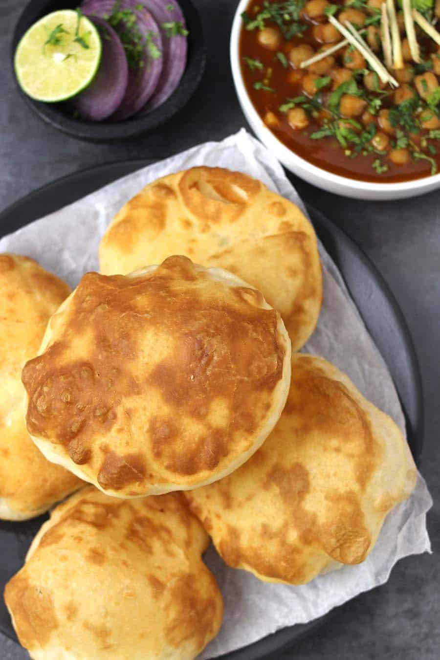 How to make bhature crispy and chewy, easy recipes for breakfast or vegetarian meal