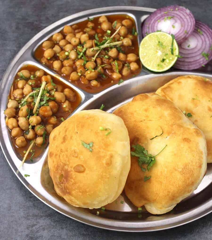 Chole Bhature, How to make bhatura, Punjabi Chana Bhatura, Poori , Puri, North Indian recipes, Punjabi food, luchi