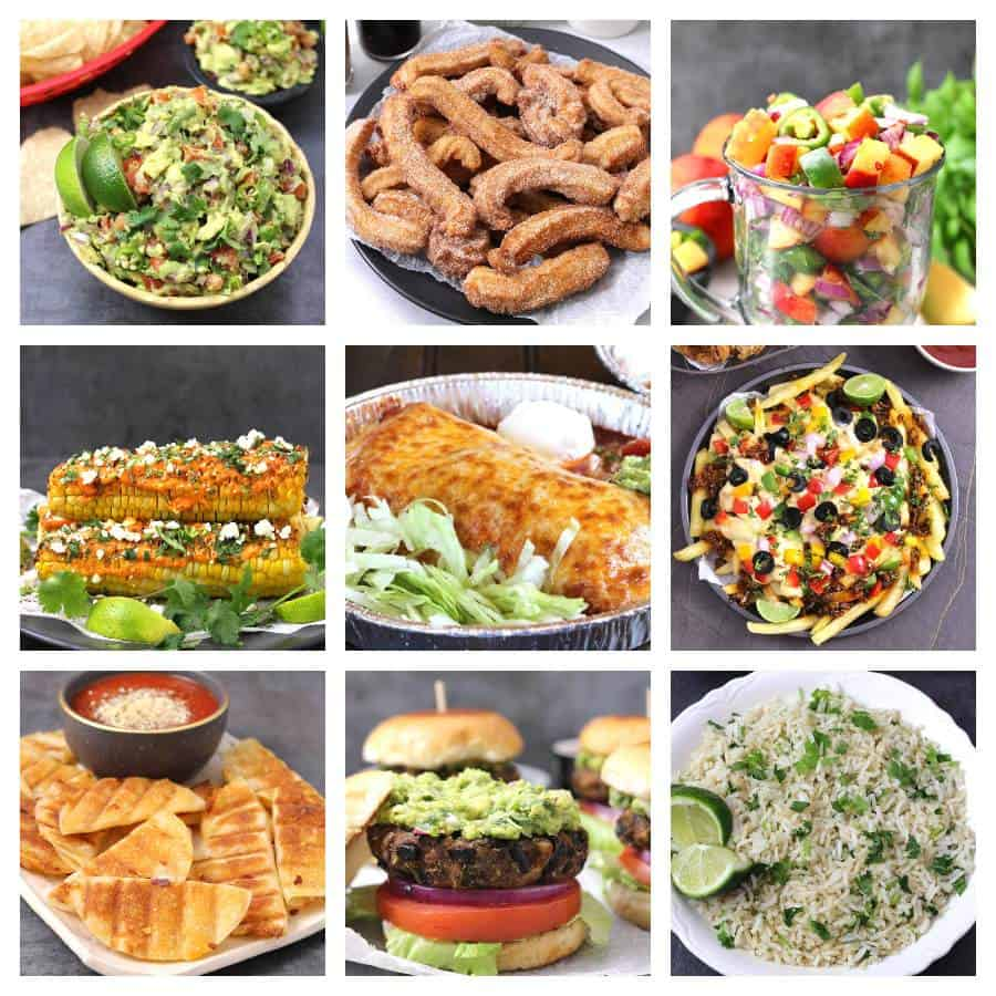 best and easy Mexican food recipes for cinco de mayo party, dinner, desserts, keto, vegan, vegetarian vegan keto low carb healthy cinco de mayo party food ideas, Enchilada Style Burritos, enchilada sauce, enchilada bake, beef enchilada - Dinner recipes, chimichangas, empanadas, tostadas, fajitas, refried beans, tacos, burritos , guacamole, avocado, pico de gallo, churros, tortillas, jicama, tres leches cake