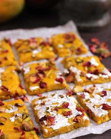 Mango Coconut Burfi, Mango Milk Powder Barfi, Mango Ladoo, Laddu, Nariyal barfi, Indian fudge, summer sweets and desserts, Popular Indian recipes, Mithai, Diwali, Navratri, Holi, Ramzan, Christmas, Raksha Bandhan, Karwa Chauth Recipes, borfi, barfee, #barfi #burfi #ladoo #laddu, besan barfi, besan ladoo, motichoor laddu