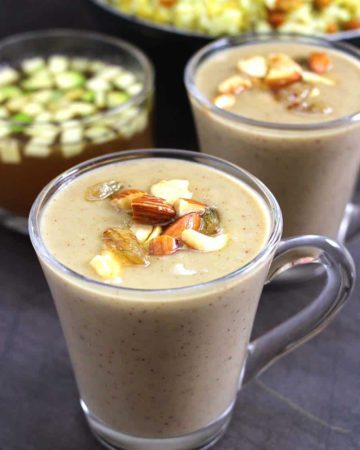 Gasagase Payasa | Poppy Seeds Pudding | Khus Khus Kheer | Kasa Kasa Payasam, Summer dessert and food recipes, recipes with jaggery and coconut, pudding desserts, Indian sweets, Ugadi, ramnavami, ganesh chaturthi, navratri recipes, vrat and fasting, upvas recipes, coconut milk, prasad / prasadam recipes