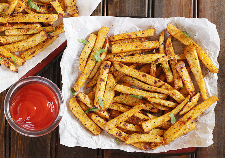 jicama fries, air fryer, keto jicama fries best and easy Mexican food recipes for cinco de mayo party, dinner, desserts, keto, vegan, vegetarian vegan keto low carb healthy cinco de mayo party food ideas,
