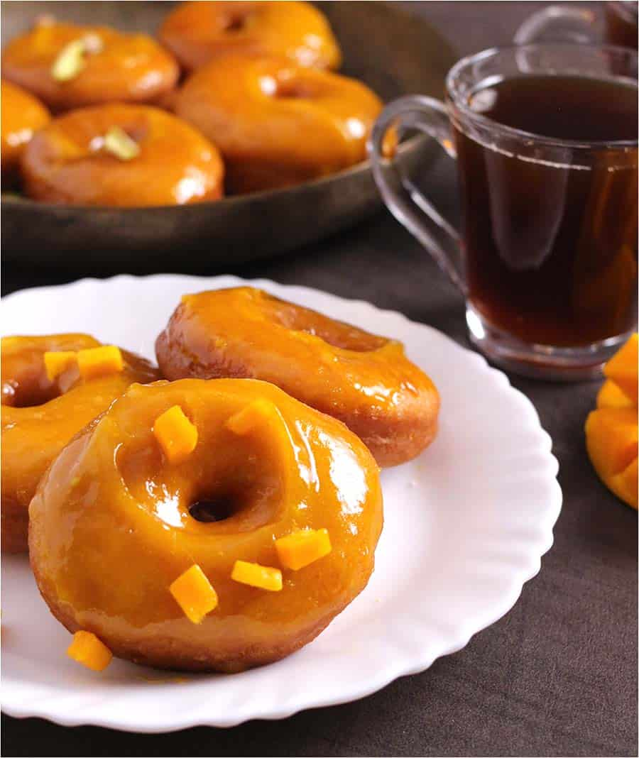 Mango Donuts, air fryer and instant pot doughnuts, baked donuts, how to make glaze?